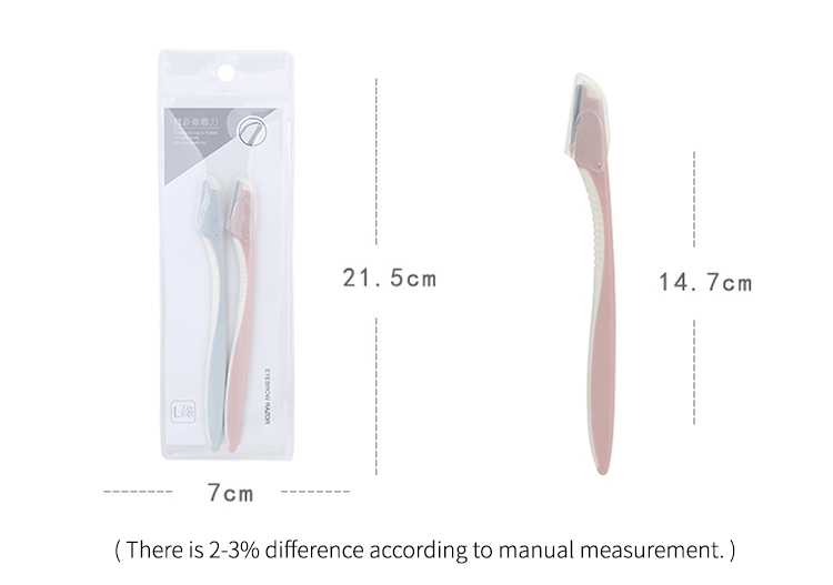 Lameila 2pcs hair remover razors wholesale mini blade eyebrow trimmer cosmetic tools A959