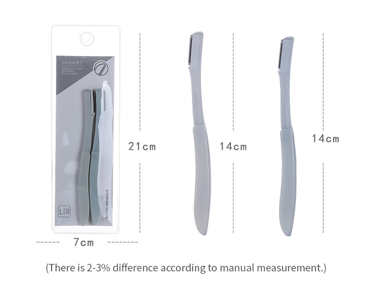 Lameila 2pcs Manufacturer new style safety stainless steel blade floding eyebrow razor A945