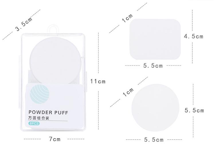 Lameila high quality latex free beauty makeup puff 2 pcs reusable sponge blender powder puff cosmetic puff A80030