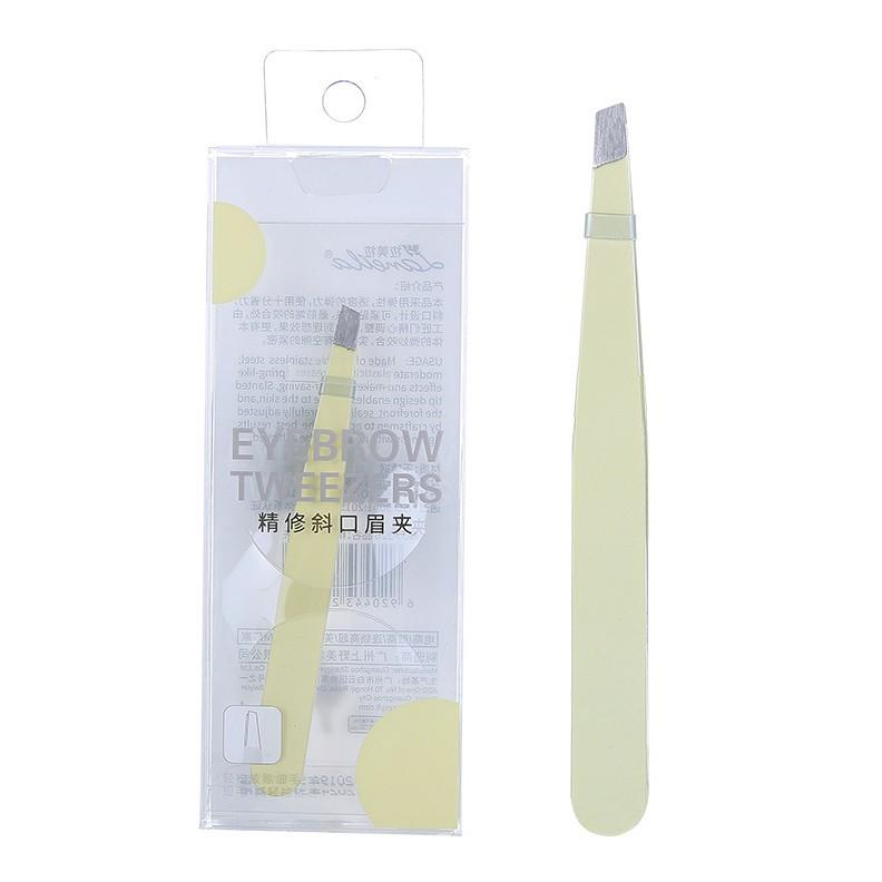 Lameila Private label stainless steel cute slanted type makeup tools good eyebrow tweezer eyelash extension tweezers A226