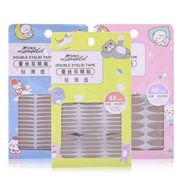 Lameila 40 Pairs Narual Invisible Waterproof Double Eyelid Tape A881