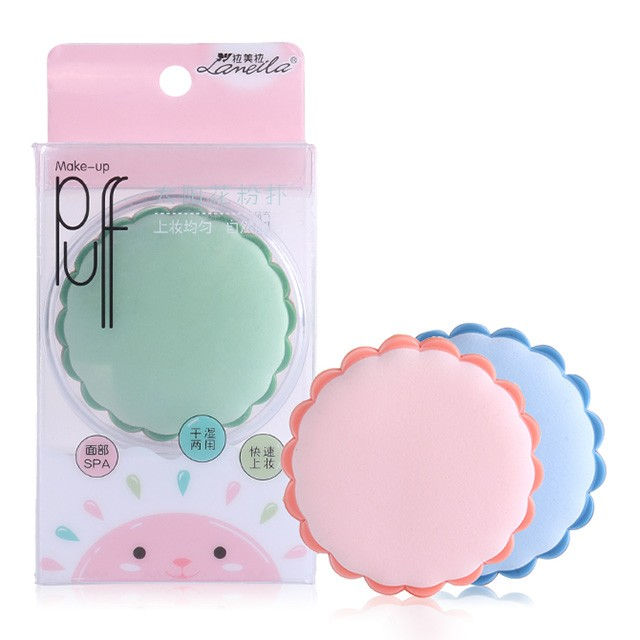Lameila Wholesale super soft makeup puff makeup tools flower shape cosmetic air cushion puff A79901