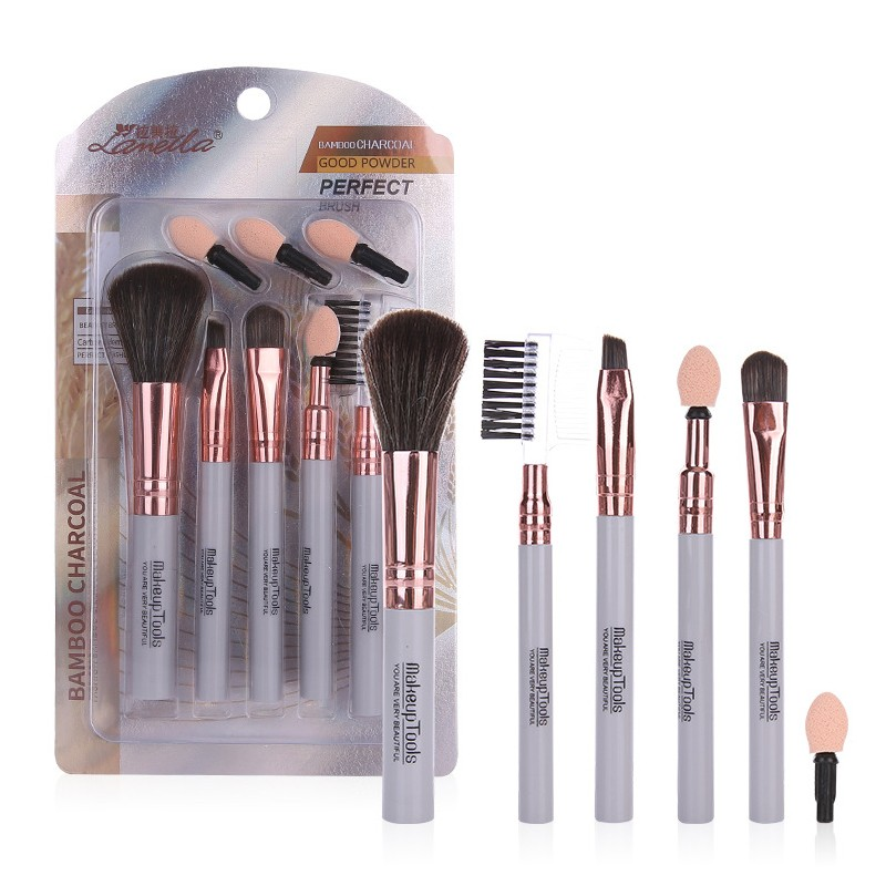 Lameila Premium Luxury 5pcs Large Wholesale Makeup Brush Set Customize Makeup Brushes Private Label L0961