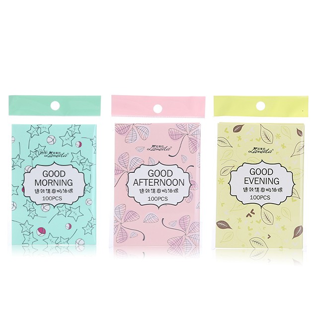 Lameila 100pcs cosmetic perfumed oil absorbing sheet colorful facial clean flax oil blotting paper A560