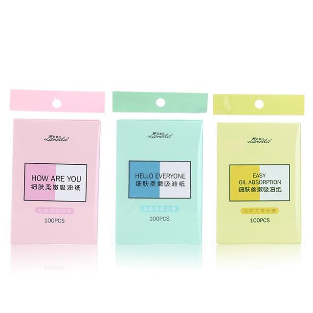 Lameila 100pcs cost efficient oil absorbing paper portable facial clean oil blotting paper A561