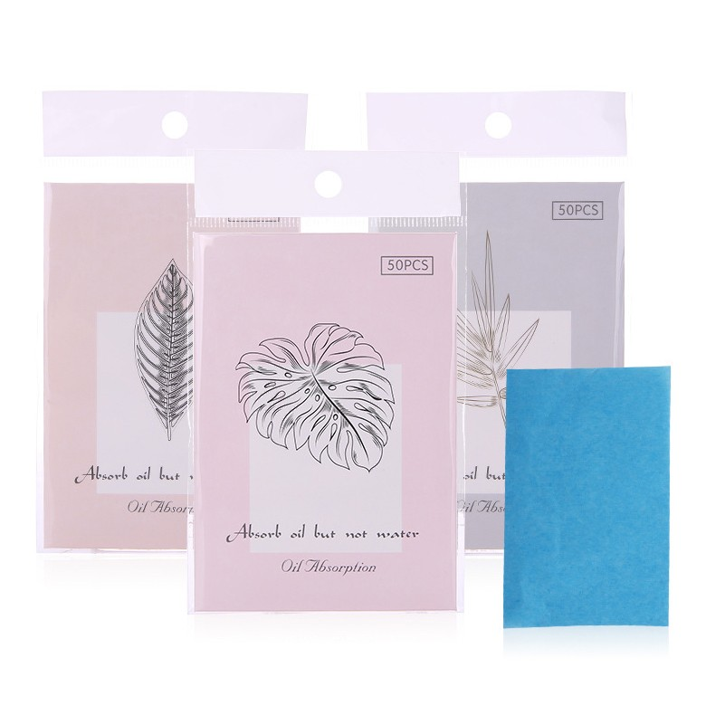 Premium face oil absorbing sheets facial care oil blotting paper with logo printed A572