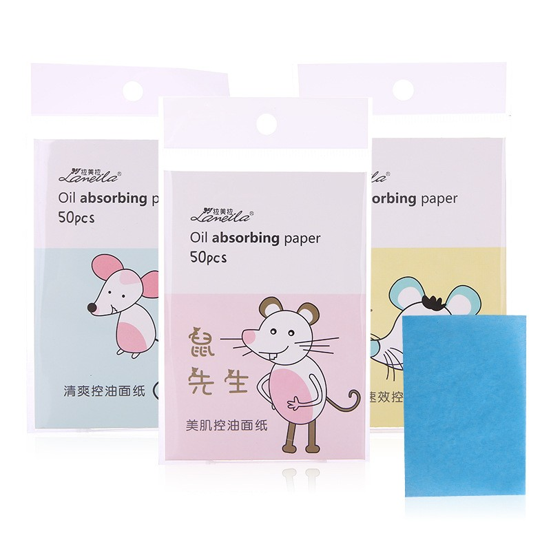 Lameila Premium face oil absorbing sheets facial care oil blotting paper with logo printed A575