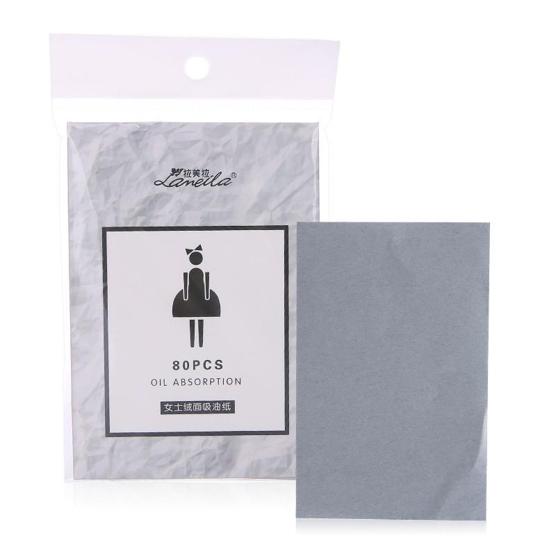 Lameila 80pcs Skin-friendly Delicate Oil-absorbing Sheet Face Oil Blotting Paper A581