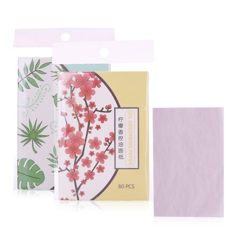 Lameila 80pcs cost efficient oil absorbing paper portable facial clean oil blotting paper A583