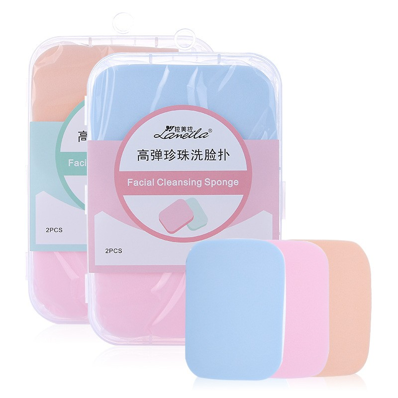 Lameila 3 in 1 Popular Soft EVA oval shape face clean sponge Facial Deep Wash Face Cleaning Puff B0024