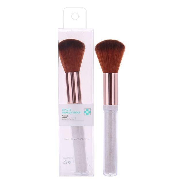 Silubi single wholesale marble makeup brush custom packaging box natural hair blush makeup brush SLB-H004