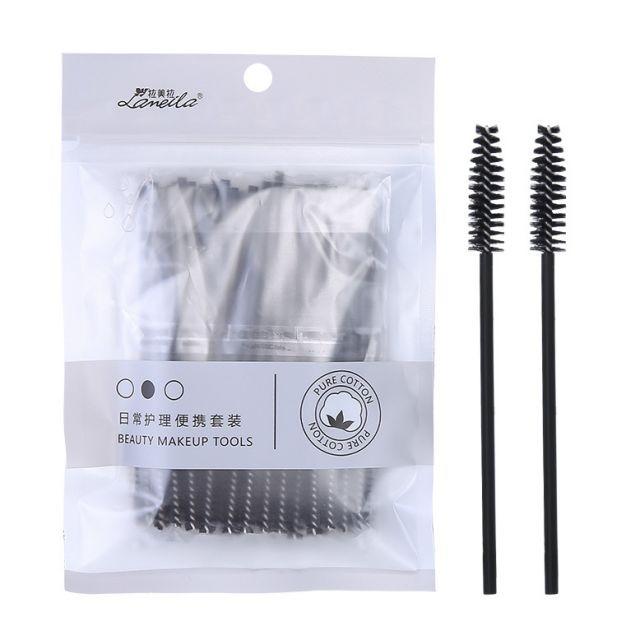 50Pcs/bag Mascara Applicator Disposable Make Brush Eyelashes Tools Set Custom Logo B0518