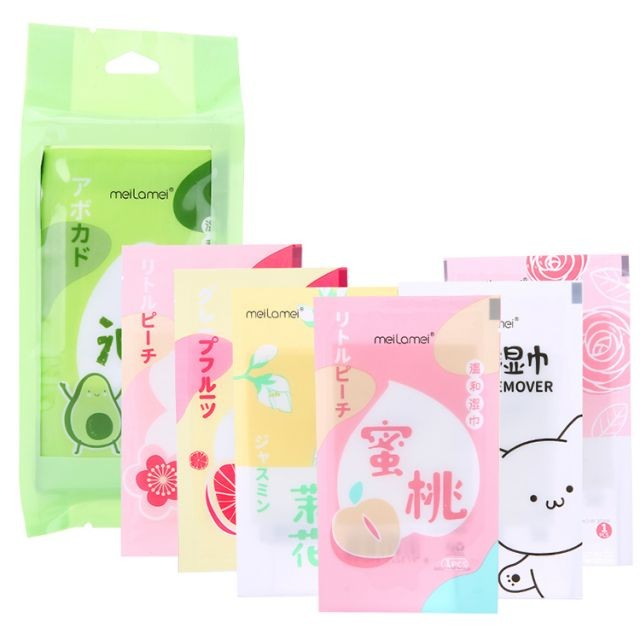 Meilamei face wipes makeup remover best private label oil free facial makeup remover wipes SJ018