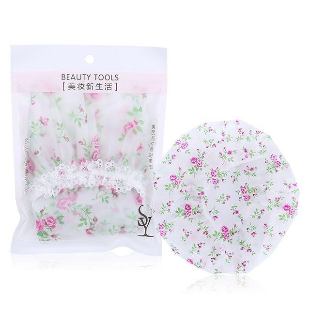 Waterproof and smokeproof hood waterproof bath cap mesh EVA lace adult shower cap C0824