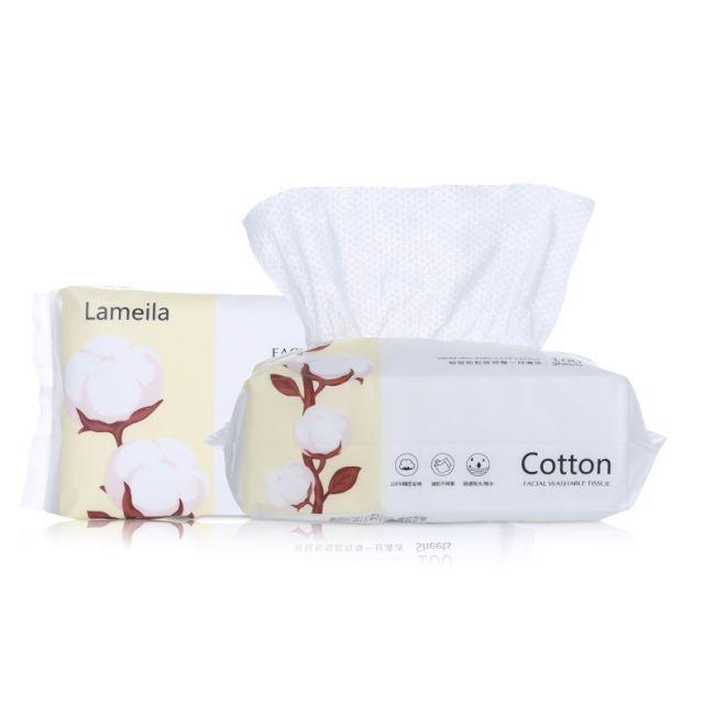 Lameila 80pcs/100pcs Disposable Non-woven Fabrics facial Cleansing Pearl Grain Cotton Pads B274