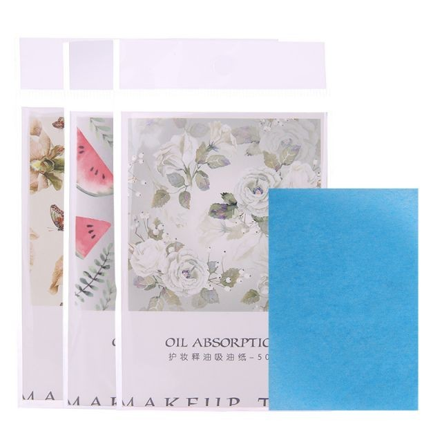 Lameila 50pcs summer face care cost efficient oil absorbing paper portable oil blotting paper for oil skin A567
