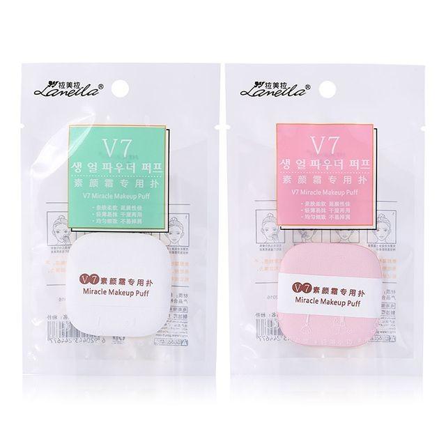 Lameila miracle cosmetic puff square shape OEM air cushion puff soft beauty makeup sponge puff B0964
