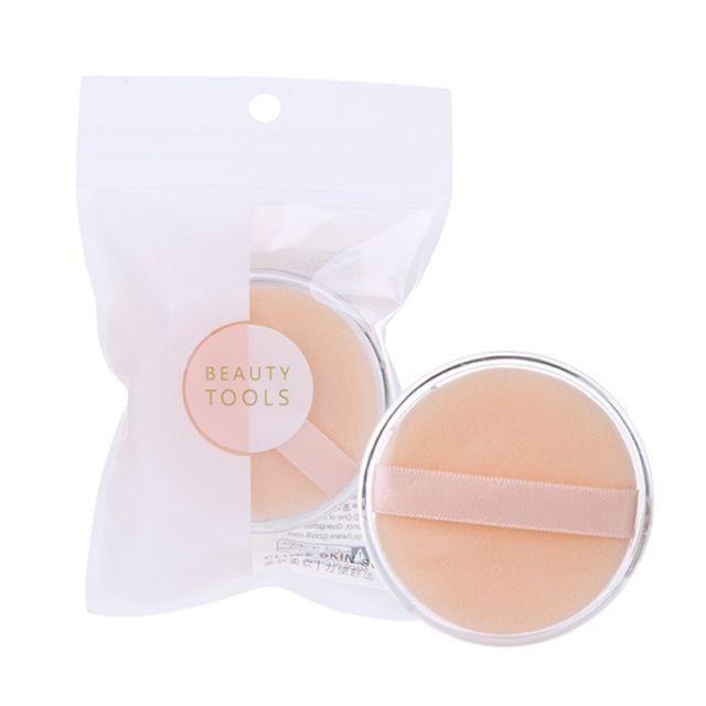 Lameila new design cosmetic foundation powder puff private label soft flocking loose powder sponge puff B0817
