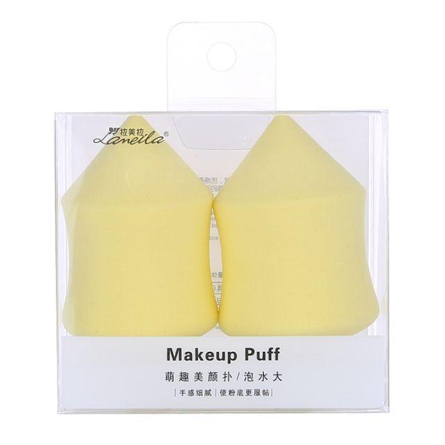 Lameila 2pcs Wholesale Powder Puff Foundation Sponge Washable Cosmetic Puff Makeup Sponge A80199