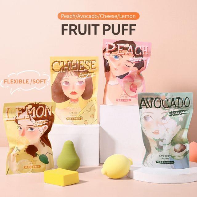 Lameila 2021 new arrived single pack foundation cosmetic fruit shape makeup sponge A80179/A80180/A80181/A80182