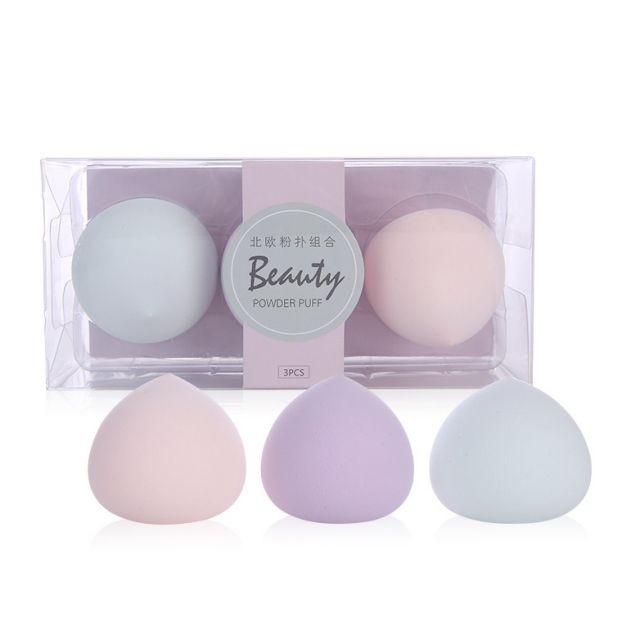 Lameila Colorful Peach Shape Puff Beauty Cosmetic New Face Soft Sponge Makeup Blender A80134