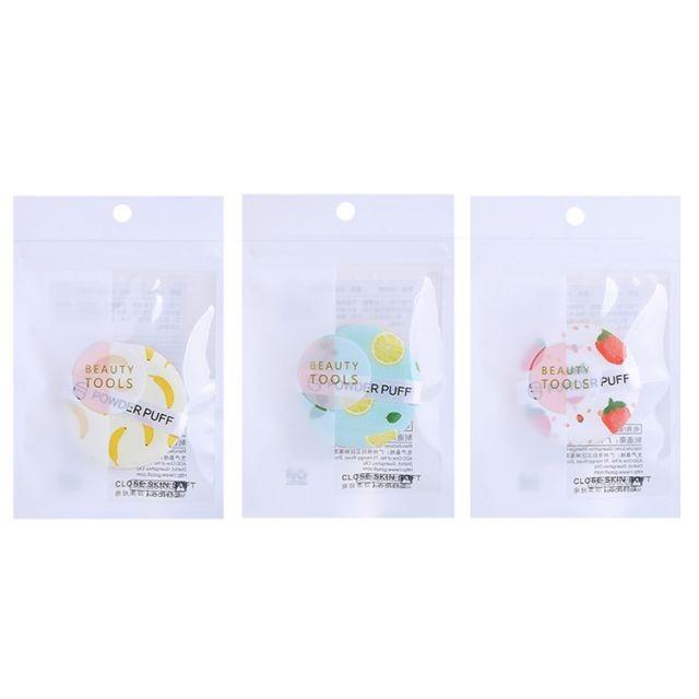 Lameila wholesale organic beauty makeup powder puff private label soft fruit makeup sponge puff makeup blending sponge A80089