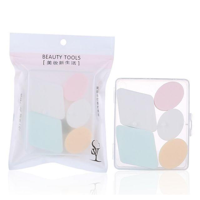 Lameila Powder puff Beauty Foundation Blending 6 pcs Sponge Custom Packaging Logo Makeup Sponge Blender A80035