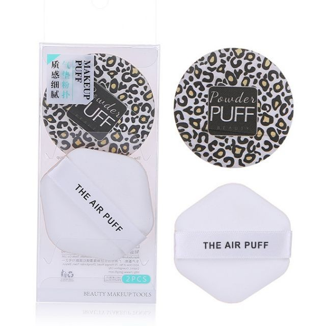 Factory new arrival 2 in 1 different pattern cosmetic makeup sponge air cushion puff powder puff A80019