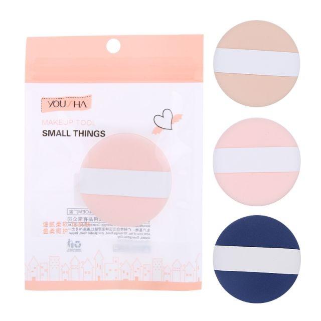 Yousha customized soft beauty tools sponge puff cosmetics latex free round shape air cushion puff YF096