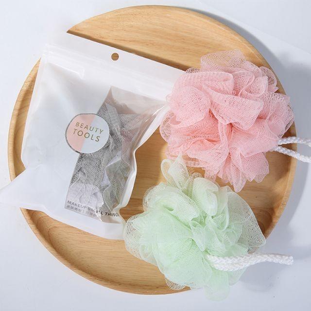 Custom Natural Loofah Bath Sponge Body Scrubber Mesh Shower Bath Balls Sponge for Exfoliating 1pc C047