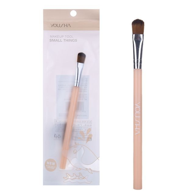 Yousha round head single makeup brush private label low moq nylon bristles single makeup concealer brush YC007