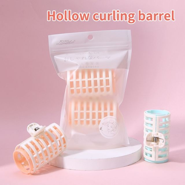 Lameila Hairdressing Manual Tools Large Self Grip Holding Hair Curler Set Beauty Nylon Curl Plastic Hair Roller Clip 2pcs C097