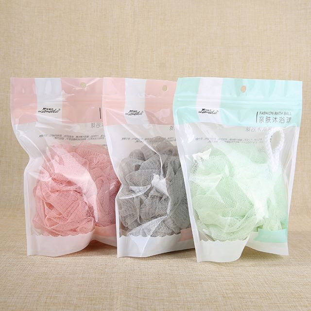 Cheap Body Scrubber Ball Exfoliating Shower Loofah Mesh 1pc C171Pouf Bath Sponges