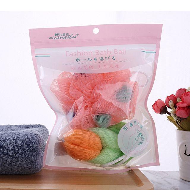 Lameila Wholesale Soft Body Bubbles Sponge 2pcs Skin Exfoliating Scrubber Mesh Ball Cleaning Bath Shower Sponge C172