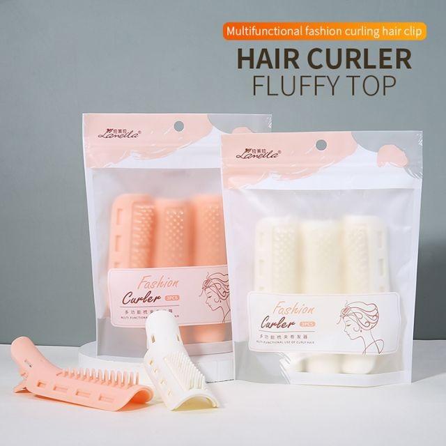 Lameila beauty salon Hair waver wholesale 3pcs fashion orange plastic hair rollers set curlers C266