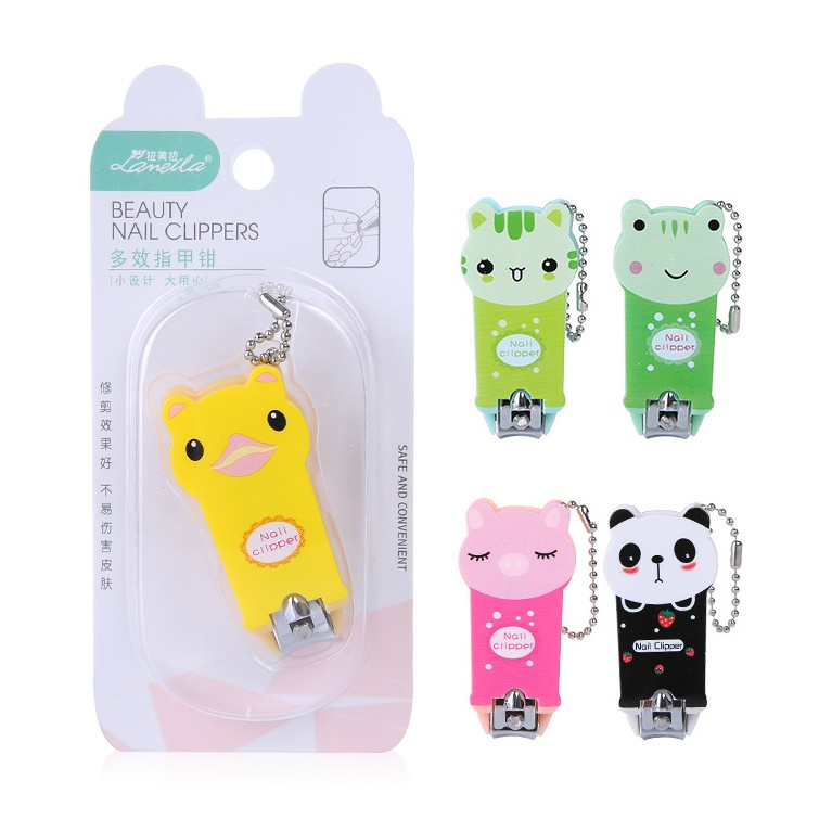 Wholesale stainless steel carton cute baby finger nail clipper toe nail cutting tools C0168