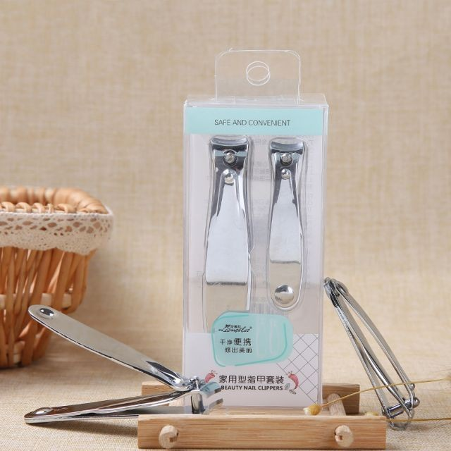 Durable home use stainless steel sharp toe nail clipper set with two different size C0183