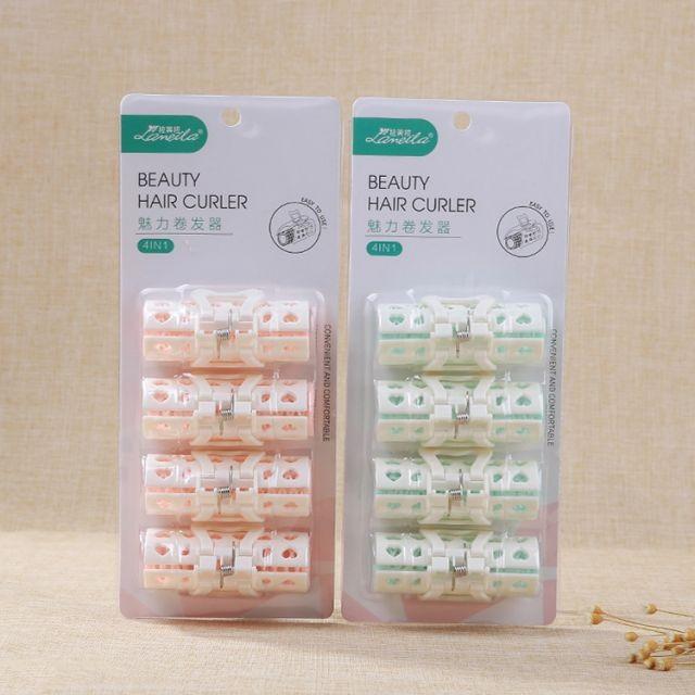 Women bouncy plastic hair curls rollers wholesale custom durable small hair rollers set diy styling hair curler C245
