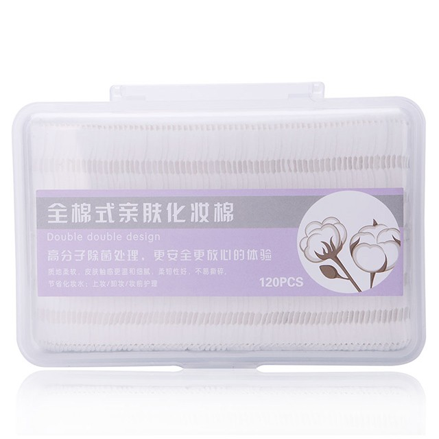 Meilamei 120pcs Cotton_pads Makeup Remover Disposable Cosmetic Cotton Pads For Face B113