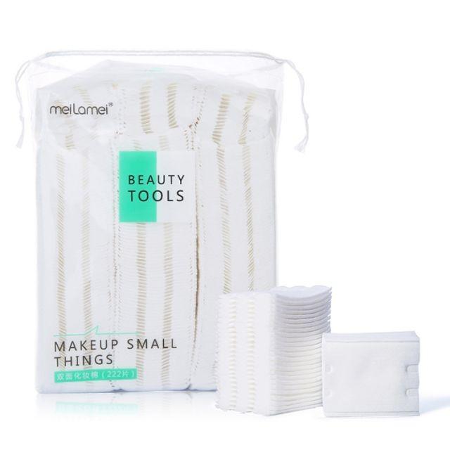 Meilamei Custom OEM 222pcs Organic Facial Makeup Remover Cotton Pads MLM-A502