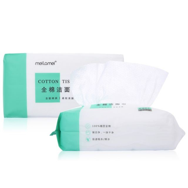 Meilamei New Styles Grid Pearl Face 100% Cotton Disposable Natural Cotton Facial Towel MLM-A503