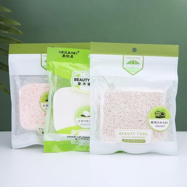 Meilamei 2pcs Wholesale Powder Puff Foundation Sponge Washable Cosmetic Puff Makeup Sponge MLM-B002