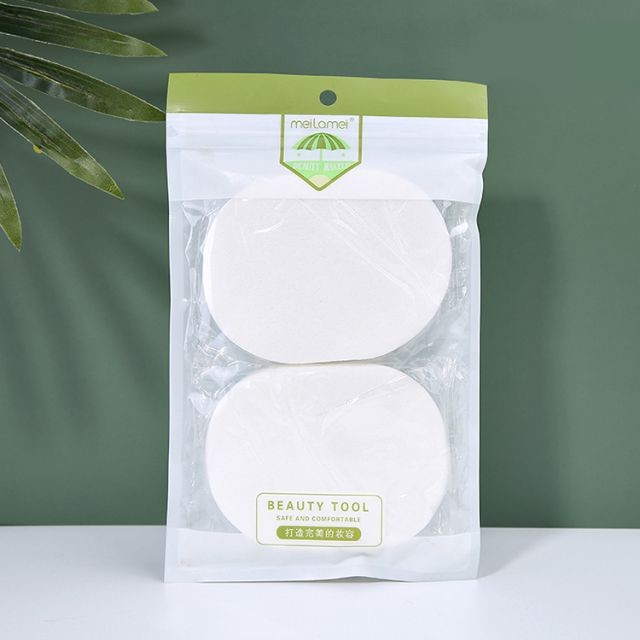Meilamei New Arrival 2pcs/bag Beauty Tools Natural Face Cleansing Sponge With Packaging MLM-B010