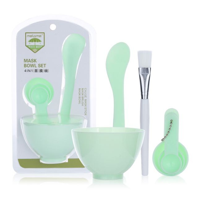 Meilamei Factory Direct Sale Cosmetic Silicone Face Mask Bowl And Brush DIY Facial Mixing Bowl Set MLM-H002