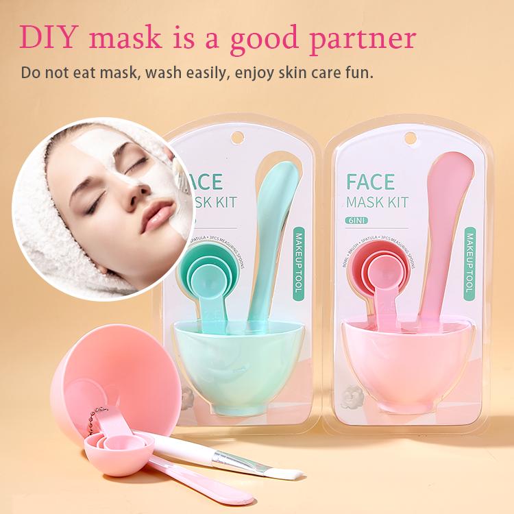 Lameila OEM 6 In 1 Facial Beauty Bowl DIY Facial Face Mask Mixing Bowl Set With Mask 9064