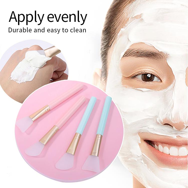 Lameila Custom Private Logo DIY Facial Mask Spatula Face Mask Applicator Brush Soft Clay Silicone Face Mask Brush D0888