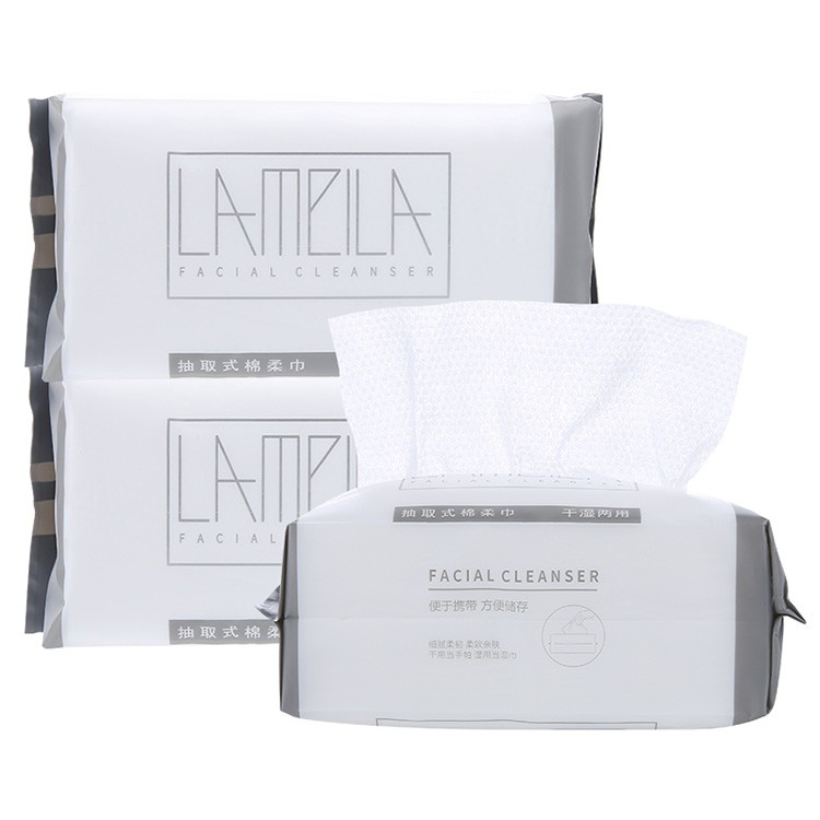 Lameila soft cleaning makeup remover tissue facial clean tissue disposable facial cotton tissue B334 B274