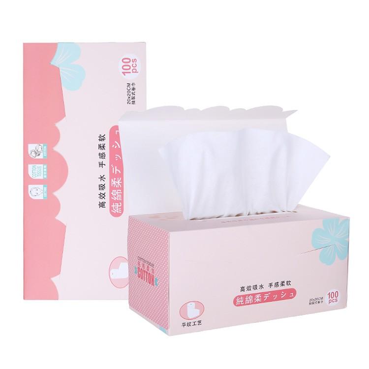 Removable Cotton Towels 100pcs Soft Disposable Facial Cleansing Towel Makeup Remover B149