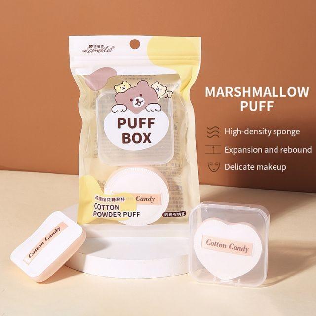 Wholesale 2pcs Air Cushion Powder Puff Hydrophilic Non-latex Skin-friendly Beauty Sponge Makeup Foundation Puff A80185