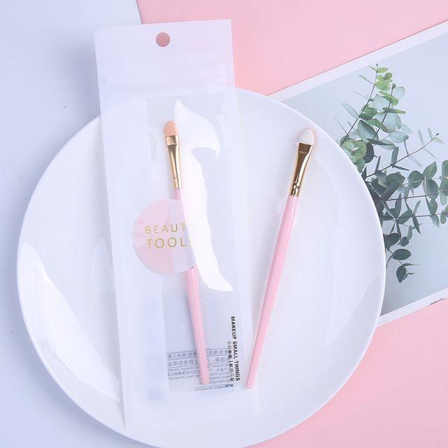 Lameila custom logo private label Professional eye shadow brush set pink plastic handle pink eyeshadow brush B0477